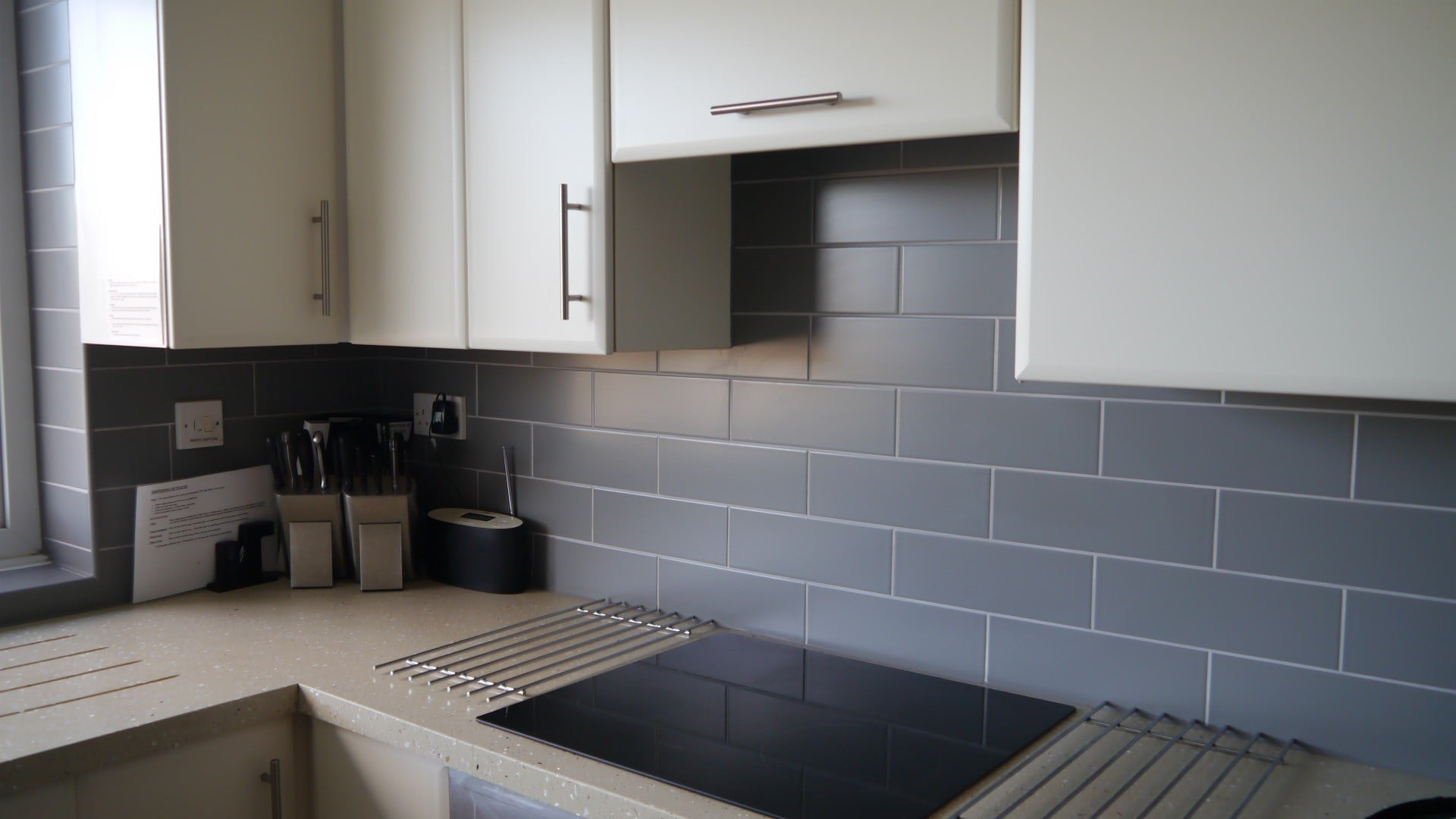 kitchen hob and tiles